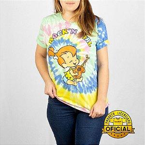 Camiseta Feminina Flintstones Pedrita Tie Dye