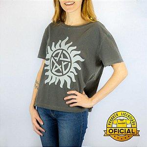 Camiseta Feminina Supernatural Logo Estonada