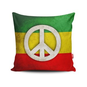 Capa de Almofada Decorativa Paz e Amor