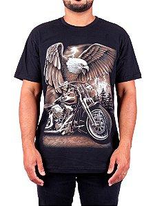 Camiseta Moto Águia Full Preta.