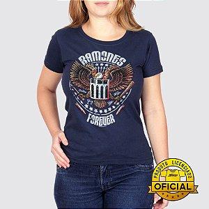 Camiseta Feminina Ramones Forever Marinho