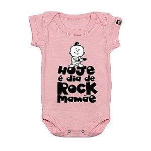 Body Bebê Dia de Rock Rosa