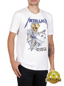Camiseta Metallica Their Money Branca