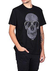 Camiseta Skull Glasses Preta.