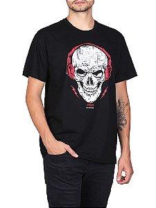 Camiseta Skull Fone Preta.