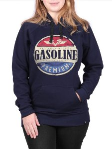 Moletom Canguru Feminino Gasoline Marinho