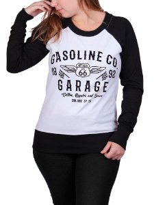 Moletinho Feminino Gasoline Co Raglan Branco