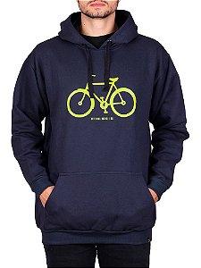 Moletom Canguru Bicicleta Bicycle Co Marinho