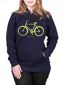 Moletom Canguru Feminino Bicicleta Co Marinho