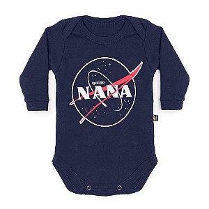 Body Bebê Manga Longa Quero Nana Marinho