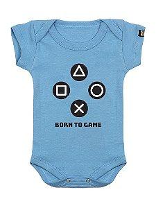 Body Bebê Pequeno Gamer Azul