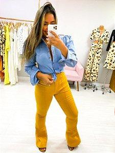 Blusa Botões Jeans Cores