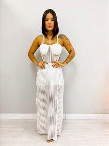 Vestido Longo Hotpants Branco