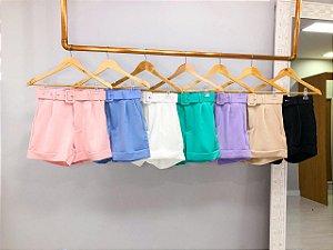 Short Cintura Alta Alfaitaria Cores