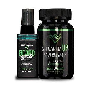 1 Minoxidil Beard Growth +  1 Selvagem UP Barba Selvagem