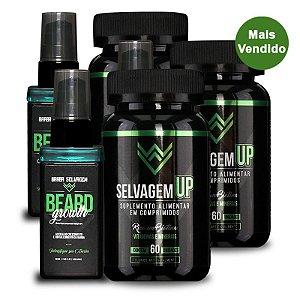 3 Beard Growth 3 SelvagemUP Barba Selvagem