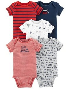 Kit Bodies All Star - Carter's 5 Peças