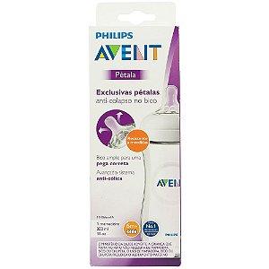 Mamadeira Pétala Transparente - Philips Avent 330ml