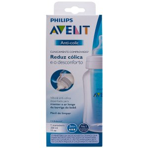 Mamadeira Clássica Anti-Colic Transparente - Philips Avent 330ml