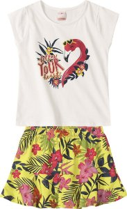 Conjunto Flamingo - Marisol Kids 2 Peças