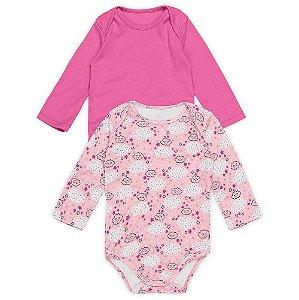 Kit Bodies Nuvem Pink - Marisol Baby 2 Peças