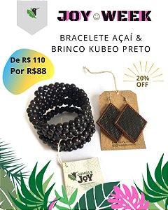 Bracele Açaí & Brinco Kubeo preto