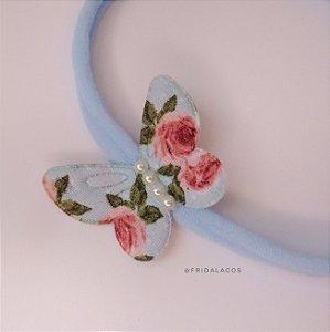 Borboleta Floral P (Presilha Antideslizante ou Faixinha/Unidade)