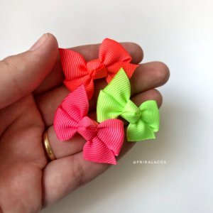 Kit Mini Catavento Neon PP (Presilha Antideslizante ou Faixinha)