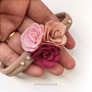 Headband Floral Any P (Faixinha nude/Unidade)