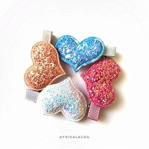 Coração Brilho Médio (Presilha Antideslizante ou Faixinha/Unidade)