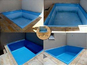 Tinta para Piscina Fibra ou Concreto em kit para impermeabilização proteção