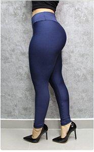 Calça legging de suplex cintura alta.