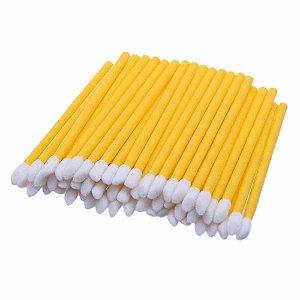 Bastão Pincel Aplicador Lip Gloss Amarelo