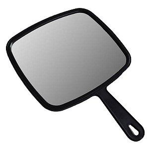 Espelho de Mão Retangular Interponte Preto
