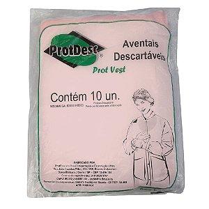 Avental Descartável TNT Rosa 20gm² Protdesc c/10 unid.