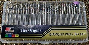 Kit 30 Brocas Diamantadas para Lixadeira Elétrica Diamond Drill Bit Set