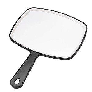 Espelho de Mão Retangular Interponte Preto 22,5x32cm