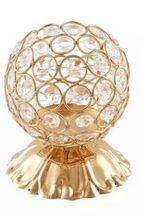 Porta Pincel Cristal Bolinha Dourado