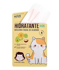 Máscara Facial de Algodão Hidratante Kids Kiss NY 18ml