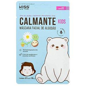 Máscara Facial de Algodão Calmante Kids Kiss NY 18ml