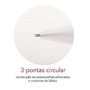 Agulha Rosca 3 Pontas Circular Mag Estética