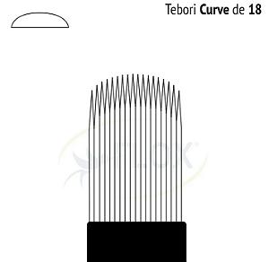 Lâmina Flox Tebori Curve de 18U pontas c/Anvisa