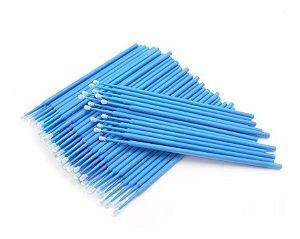 Microbrush Bastão Cotonetes Azul 100 unid.