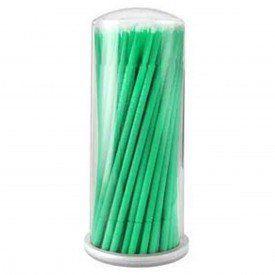 Microbrush Bastão Cotonetes Verde Pote 100 unid.