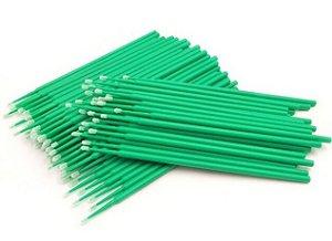 Microbrush Bastão Cotonetes Verde 100 unid.