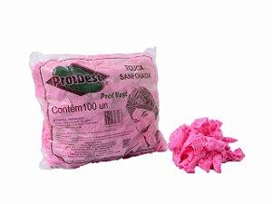 Touca Descartável TNT Rosa Pink Protdesc c/100 unid.