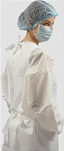 Avental Descartável TNT Branco Protdesc c/10 unid.