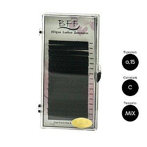 Cílios Mix para Alongamento BFF Ellipse 0.15 D - 8 a 15mm
