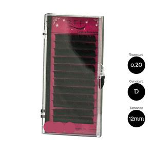 Cílios para Alongamento BFF Seda 0.20 D 12mm