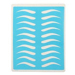 Pele Artificial Impressa de Sobrancelhas 14 x 19cm